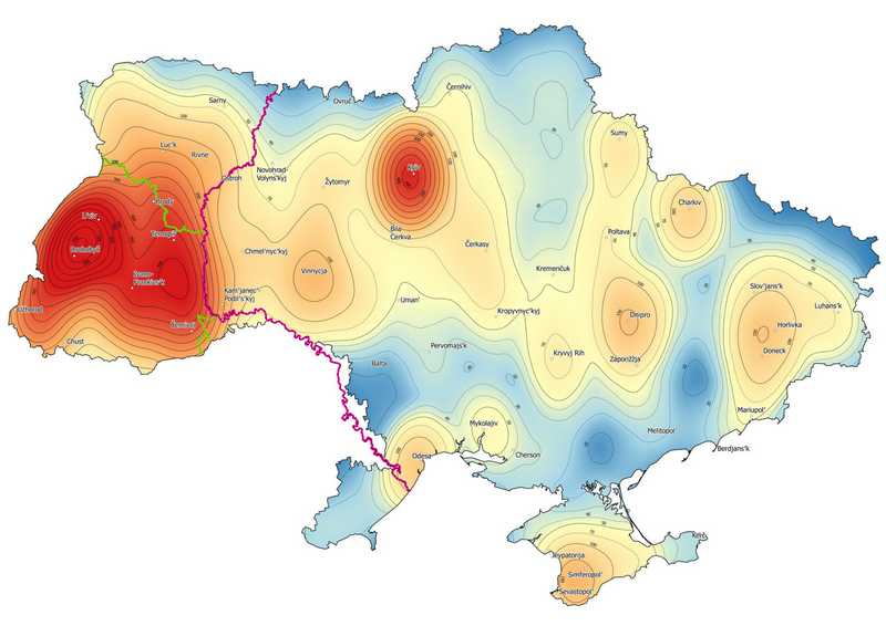 Heatmap Ukraine